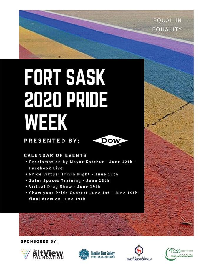 Pride Week 2020 Calendar of Events Poster