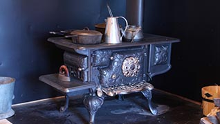 Wood Stove at Historic Village