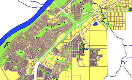 Screenshot of GIS Map